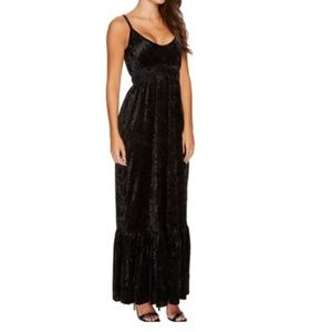Romeo & Juliet Couture Crushed Velvet Maxi Dress